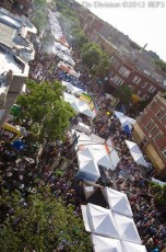 aerial view of Do Division Street fest