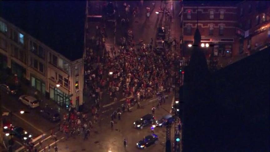 More photos of Blackhawks street celebrations