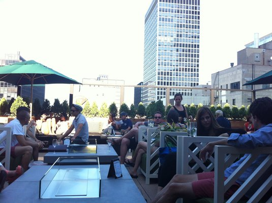 Roof to bar at Drumbar