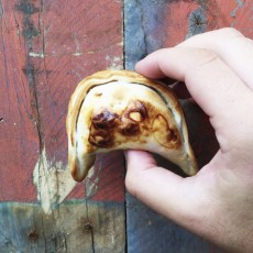 bacon and goat cheese empanada
