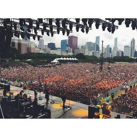 crowd at lollapalooza from stage