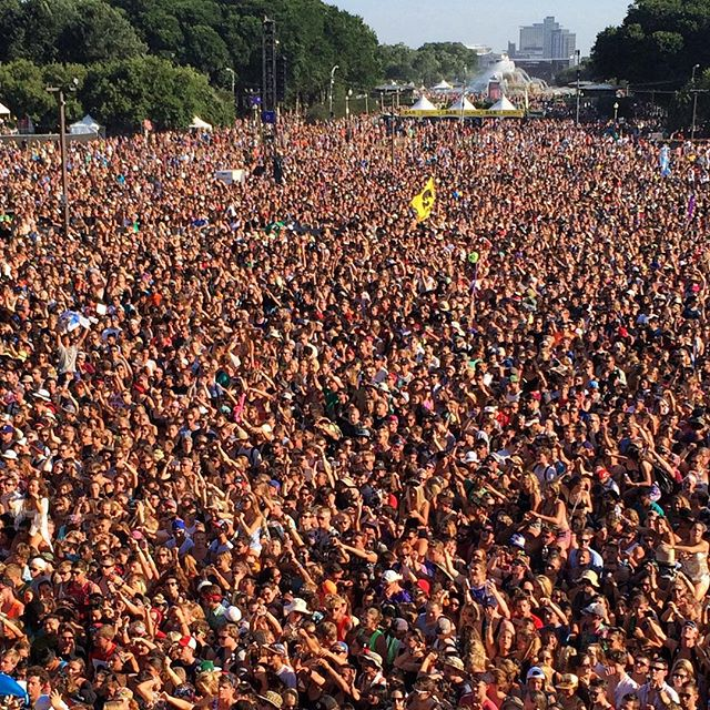lollapalooza grant park crowd