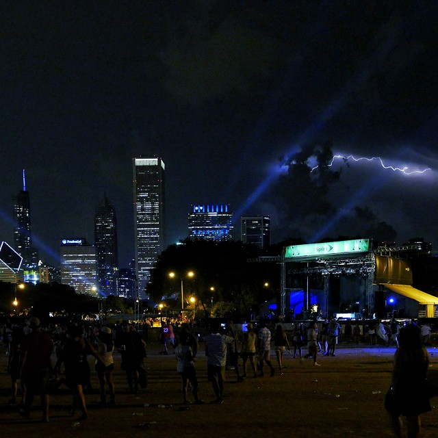 lightning in chicago at lollapalooza