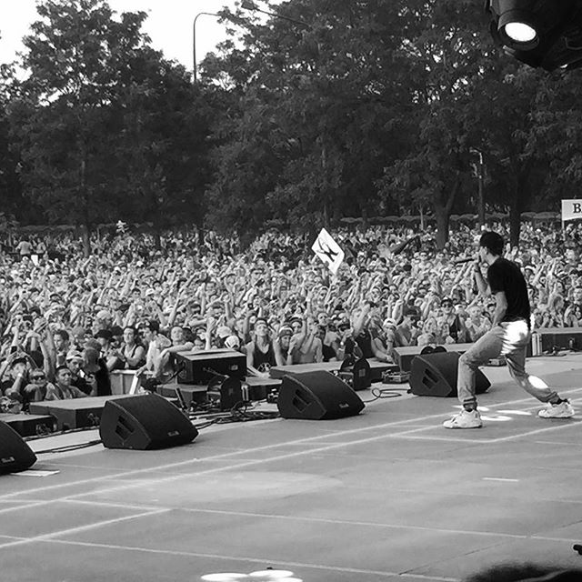 onstage at lollapalooza